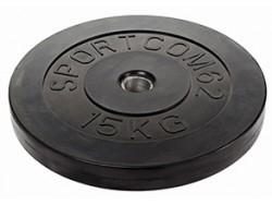 Диск обрезиненный 15 кг 31мм