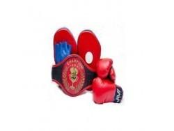 Набор боксерский Е034 (перчатки, лапы, пояс чемпиона)
