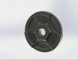 Диск (блин) чугунный Euro-Classic 1.25 кг 26 мм.