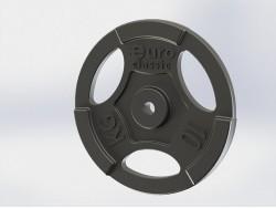 Диск (блин) чугунный Euro-Classic 10 кг 26 мм.