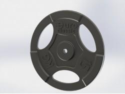 Диск (блин) чугунный Euro-Classic 15 кг 26 мм.