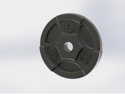 Диск (блин) чугунный Euro-Classic 2.5 кг 26 мм.