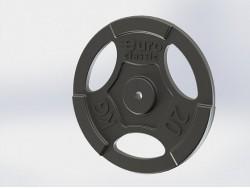 Диск (блин) чугунный Euro-Classic 20 кг 26 мм.