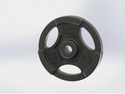 Диск (блин) чугунный Euro-Classic 5 кг 26 мм.