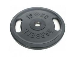 15 кг диск (блин) Евро-Классик (черный + ручки)