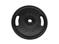 20 кг диск (блин) Евро-Классик (черный + ручки)