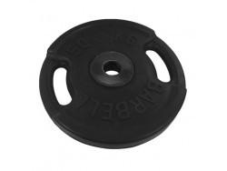 50 кг диск (блин) Евро-Классик (черный + ручки)
