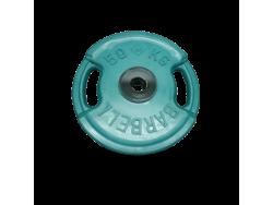 50 кг диск (блин) Евро-Классик (цветной + ручки)