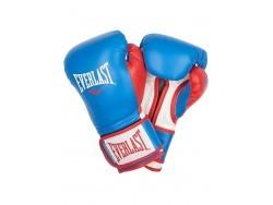 Перчатки тренировочные Powerlock PU Blue and Red (14 и 16 унций)