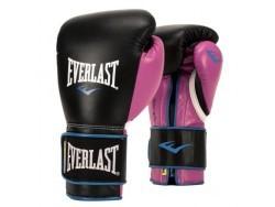Перчатки тренировочные Powerlock PU Black and Pink (12 унций)