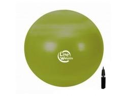 Мяч гимнастический d-65см (с насосом; «антивзрыв») 1866LW