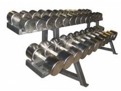 Гантельный оцинкованный ряд (10-70 кг. шаг 4кг)