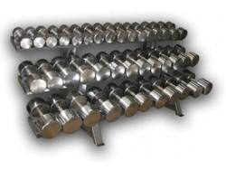 Гантельный оцинкованный ряд (10-80 кг. шаг 4кг)