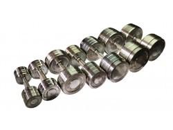 Гантельный оцинкованный ряд (10-58 кг. шаг 4кг)