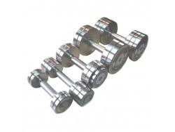 Гантельный оцинкованный ряд (10-50 кг. шаг 2кг)