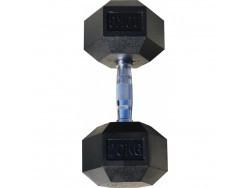 Гантель гексагональная обрезиненная, хромированная ручка, 20 кг (Body-Solid)