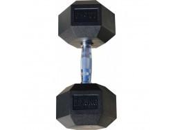 Гантель гексагональная обрезиненная, хромированная ручка, 22,5 кг (Body-Solid)