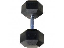Гантель гексагональная обрезиненная, хромированная ручка, 30 кг (Body-Solid)