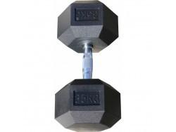 Гантель гексагональная обрезиненная, хромированная ручка, 35 кг (Body-Solid)