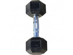 Гантель гексагональная обрезиненная, хромированная ручка, 7 кг (Body-Solid)