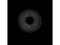 0.5 кг диск (блин) MB Barbell (черный) 31 мм.