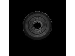 0.75 кг диск (блин) MB Barbell (черный) 31 мм.