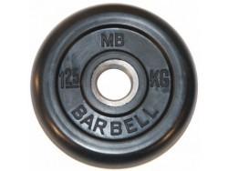 1.25 кг диск (блин) MB Barbell (черный) 31 мм.