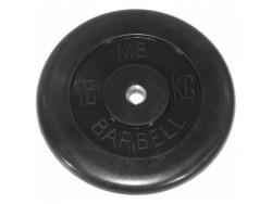 15 кг диск (блин) MB Barbell (черный) 31 мм.