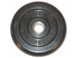 2.5 кг диск (блин) MB Barbell (черный) 31 мм.
