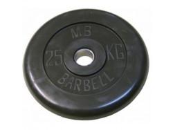 25 кг диск (блин) MB Barbell (черный) 31 мм.