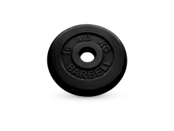 10 кг диск (блин) MB Barbell (черный) 50 мм.