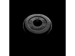 2.5 кг диск (блин) MB Barbell (черный) 50 мм.