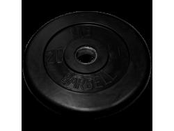 20 кг диск (блин) MB Barbell (черный) 50 мм.