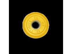 0.5 кг диск (блин) MB Barbell (желтый) 26 мм.
