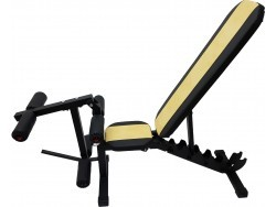 Скамья Orion Sportlim Lite Yellow + Керл для ног