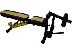 Универсальная атлетическая скамья Orion Sportlim (Черно-желтая) + Керл для ног