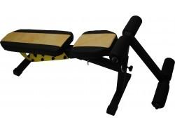 Универсальная атлетическая скамья Orion Sportlim (Черно-желтая) + Упор для пресса
