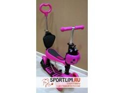 Самокат Scooter 5 в 1 Розовый