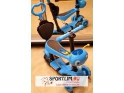 Самокат детский Scooter 5 в 1 с подсветкой и музыкой, синий