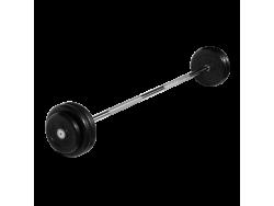 Штанга неразборная с черными дисками 30 кг