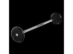 Штанга неразборная с черными дисками 15 кг