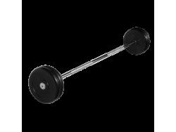 Штанга неразборная с черными дисками 25 кг