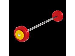 Штанга неразборная с цветными дисками 27.5 кг