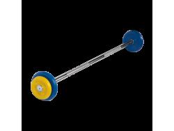Штанга неразборная с цветными дисками 12.5 кг