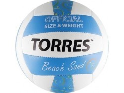 Мяч в/б TORRES Beach Sand Blue, р.5, синт. Кожа