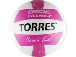 Мяч в/б TORRES Beach Sand Pink, р.5, синт. Кожа