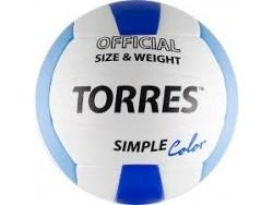 Мяч в/б TORRES Simple Color V30115, р.5, синт.кожа